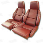 1984-1988 Corvette Seat Covers 100 Leather Standard Mounted On New Foam C4