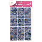 L6001Airplanes School Laser Stickers 5 Sheets 72 Sticker Sheet 4719861010283