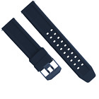 23MM RUBBER WATCH BAND STRAP FOR CITIZEN NAVIHAWK ECO DRIVE PVD BLUE