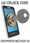 LG PERMANENT NETWORK UNLOCK CODE FOR LG KF700Q LOCKED WITH TIMBRAZIL