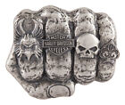 Harley Davidson Mens Fist Forward Belt Buckle Antique Nickel Finish HDMBU11417