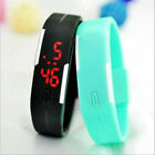 LED Silikon Sportuhr Armbanduhr Uhr Armband Touch Screen Digitaluhr Kinderuhr