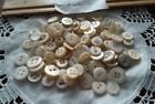 vintage mother of pearl buttons for doll child clothes various sizes Lot of 100