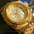 New Invicta Reserve 52mm Bolt Zeus Swiss Movt 12738 Mother Of Pearl Dial Gold IP