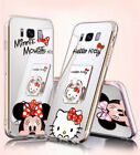 Cartoon Mirror Minnie Kitty Ring Cover Case For Samsung Galaxy S8 S9 plus iphone