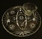 Vintage Anchor Hocking Early American Prescut EAPC 12 Piece Snack Set
