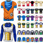 Mens 3D Fitness T Shirt Tee Saiyan Goku DBZ Compression Tops Dragon Ball Z Cos