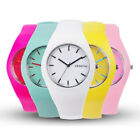 New Women's Soft Jelly Silicone Band Candy Colors Sports Girls Kids Wrist Watch
