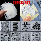 12pcs set Scrapbooking Walls Painting Embossing Template Layering Stencils