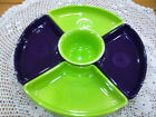 Fiestaware 6 pc Relish Entertainment set in Plum/Lemongrass. Includes 12