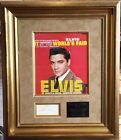 Elvis Presley Autograph Framed Display Authenticated JSA Stunning Presentation