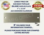 SERIAL NUMBER TAG DATA PLATE ID VEHICLE VIN INCLUDES (2) TAMPER PROOF RIVE