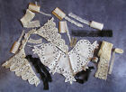 VTG Antique Lace Trims LOT Collar Crochet Handmade Battenburg Craft Restoration