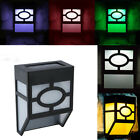 2 Modes Solar Powered Wall Mount LED Lightss RGB Outdoor Garden Yard Lamps