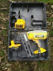 DEWALT DC618 SECOND FIX NAIL GUN, BATTERY,  CHARGER AND BOX