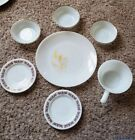 Anchor Hocking mid century milk glass 7 piece lot plates/bowls