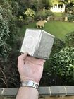 Antique 19th C Islamic Arab Ghajare Persian Solid Silver Cigarette Case Box Bird
