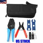 Wire Stripper Cutter Cable Crimper Crimping Tool Set For MC4 Solar Connector USA