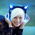 LED With High Function Speakers Axent Wear Blue Cat Ears Heaphones by Yummei