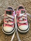 Converse All Star Baby Girl Pink Low Top Sneakers Lace Up Size 4