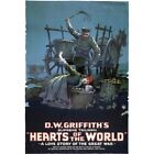 DW Griffith Hearts Of The World Great War 1918 Vintage Repro Movie Poster