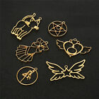 5 Pcs lot Star Moon Open Bezel Metal Frame Pendants for Jewelry Making Charms