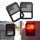 A Pair Tail Light Guards for 2007 2017 Jeep Wrangler JK USA Flag