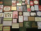 HUGE LOT 50 ASSORTED CHRISTMAS EMBELLISHMENTS Scrapbooking and Card Making