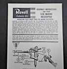 REVELL S-55 MARINE HELICOPTER MODEL INSTRUCTION SHEET ©1956