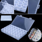 Clear Plastic 28 Slots Adjustable Jewelry Storage Box Case Craft Organizer Bead