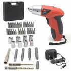 45PC 4.8V ELECTRIC RECHARGEABLE BATTERY CORDLESS SCREWDRIVER DRILL BITS UK Plug