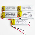 5 x 3.7V 280mAh Rechargeable Lipo Battery cells for Bluetooth Camera MP3 501540