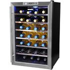 Large Wine Storage Cooler Beverage 28 Bottle Adjustable Temperature Control