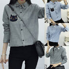 Women's Striped Long Sleeve Shirts Ladies Blouses Fashion Autumn Casual Top