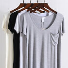 S-4XL Plus Size Fashion Summer V Neck Tops Loose Casual Short Sleeve T Shirts