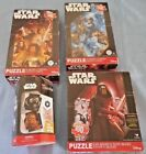 NEW!  Lot of 3 Disney Star War Puzzles & a Star Wars Battle Matching Game Age 6+