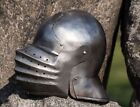 VINTAGE-CLOSED-SALLET-HELMET-MEDIEVAL-KNIGHTS-ARMOUR-HELM-LARP-ROLE-PLAY-COSTUM