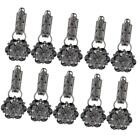 10Pcs Crystal Duch Mouth Sweater Brooch Cardigan Shawl Buckle Accessories