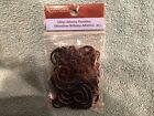 Recollections Glitter Adhesive Black Flourishes Chipboard Vines 36 Pieces
