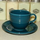 '99 Vintage Fiesta Juniper Coffee or Tea Cup & Saucer- Flawless!!