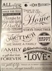 Happy Family Forever History Home Love Phrase Scrapbook Stickers