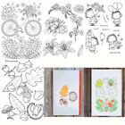Flower Transparent Silicone Clear Rubber Stamp Scrapbooking DIY Card Craft