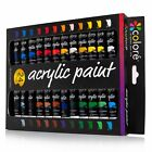 Colore Acrylic Paint Set - Perfect For Painting Canvas, Clay, Fabric, Nail Ar...