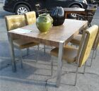 1970s Milo Baughman style chrome table and chairs