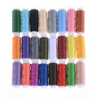 24 Spools Mixed Colors Polyester Sewing Supply Quilting Threads Set All Purpose