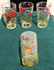 4 VINTAGE 4 oz HUNTING RING NECK PHEASANT HAZEL ATLAS JUICE GLASSES