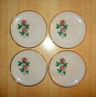 Vintage Fire-King Oven Ware ANNIVERSARY ROSE Dinnerware Plates Set of Four