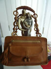 AUTHENTIC ANYA HINDMARCH TAN LEATHER HAND SNUG FIT SHOULDER BAG TOP OF RANGE