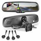 Rear View Mirror with Ultra Bright 43 LCD Display + 4 Parking Sensors Kit