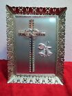Picture Frame Silver Anniversary Wedding Rings Gift Silver Cross Bells Bands